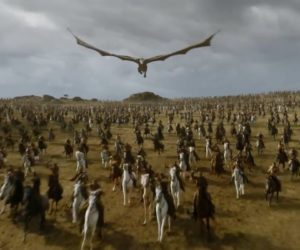 """дракон (кадр из 7-го сезона """"Игры престолов"""")"""