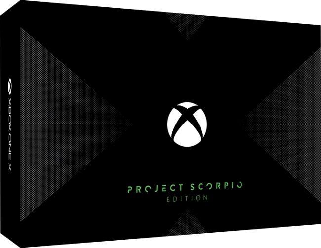 Xbox One X Project Scorpio Edition - упаковка