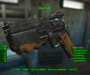 Fallout 4 10-мм пистолет из первой части