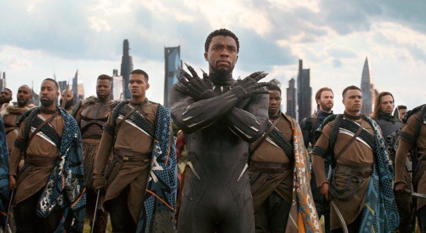 """Чёрная Пантера - кадр из фильма """"Мстители: Война бесконечности"""""""
