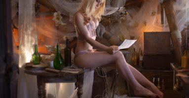 Вызывающий косплей на Кейру Мец из «Ведьмак 3: Дикая Охота»