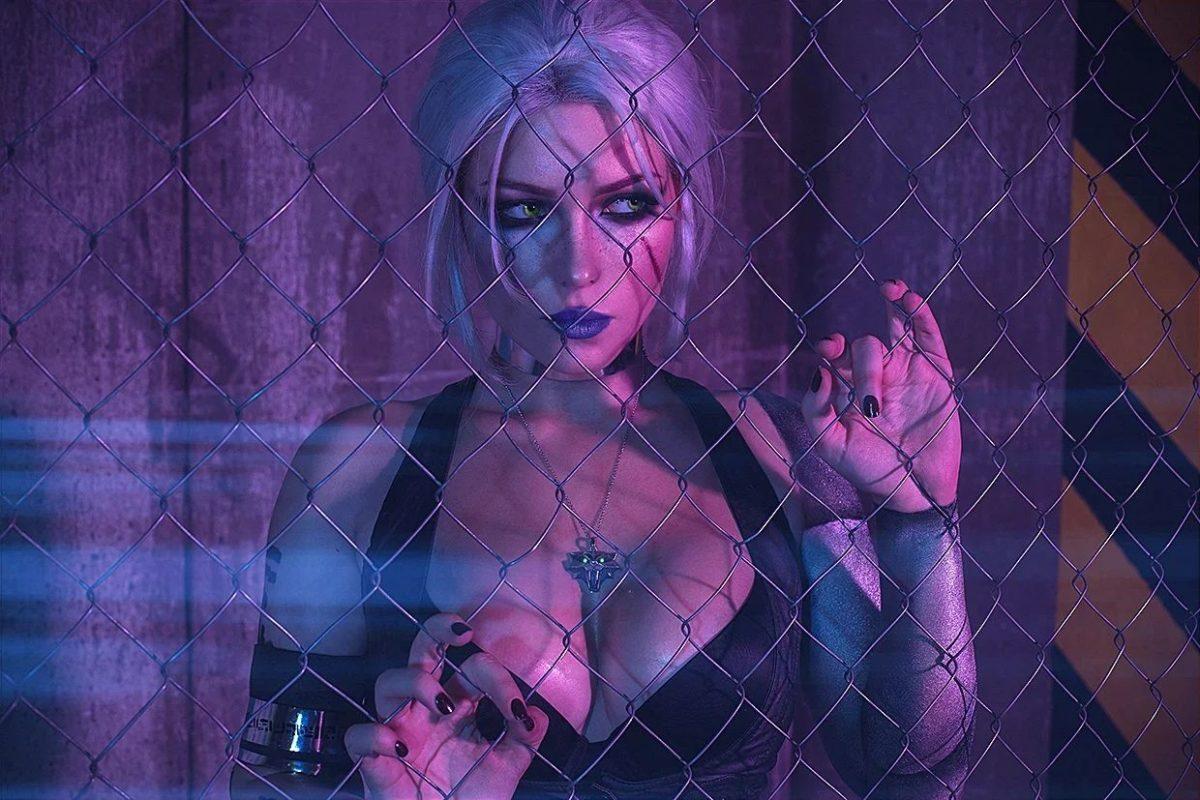 "Цири из ""Ведьмака 3"" в стилистике Cyberpunk 2077."