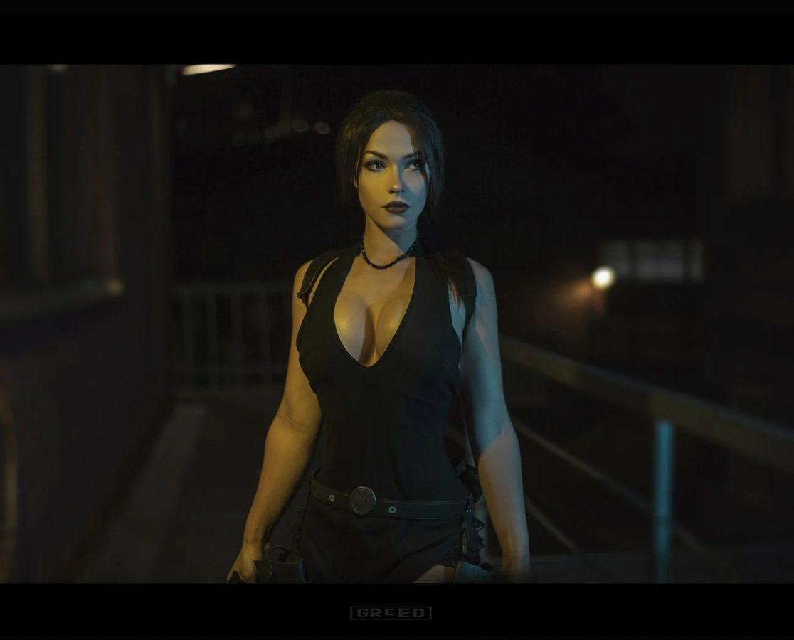 Косплей на Лару из Tomb Raider: Underworld