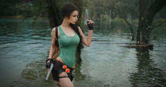 Образ Лары Крофт из первых игр серии