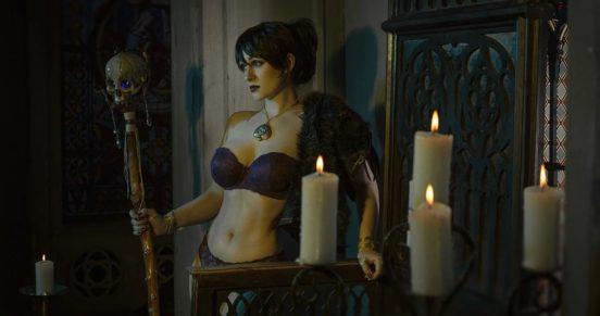 Горячий косплей на Морриган из Dragon Age от Саши Костюкевич