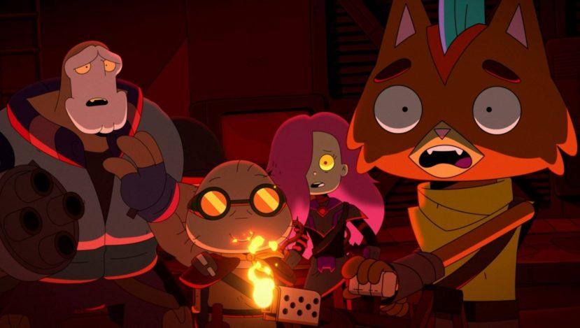 Три новых персонажа слева и один старый справа