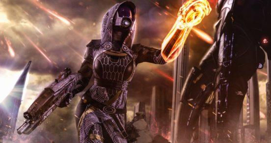 Шедевральный косплей на Тали из Mass Effect