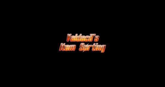 Valdacil's Item Sorting
