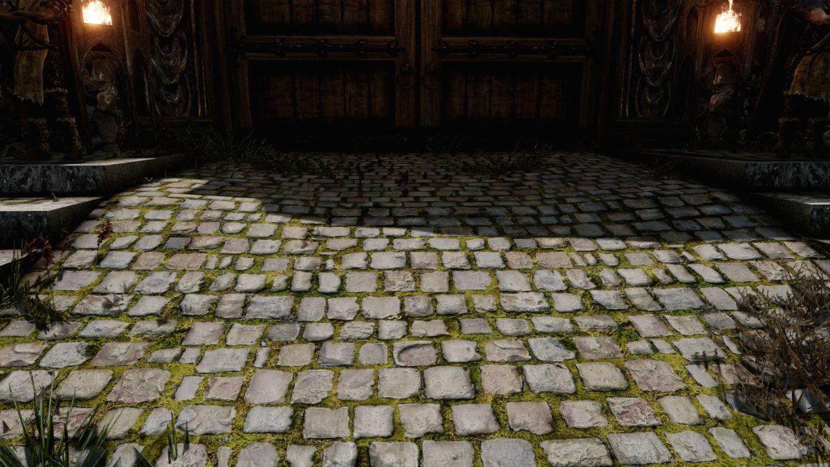 Mossy Whiterun Stonefloor Redone