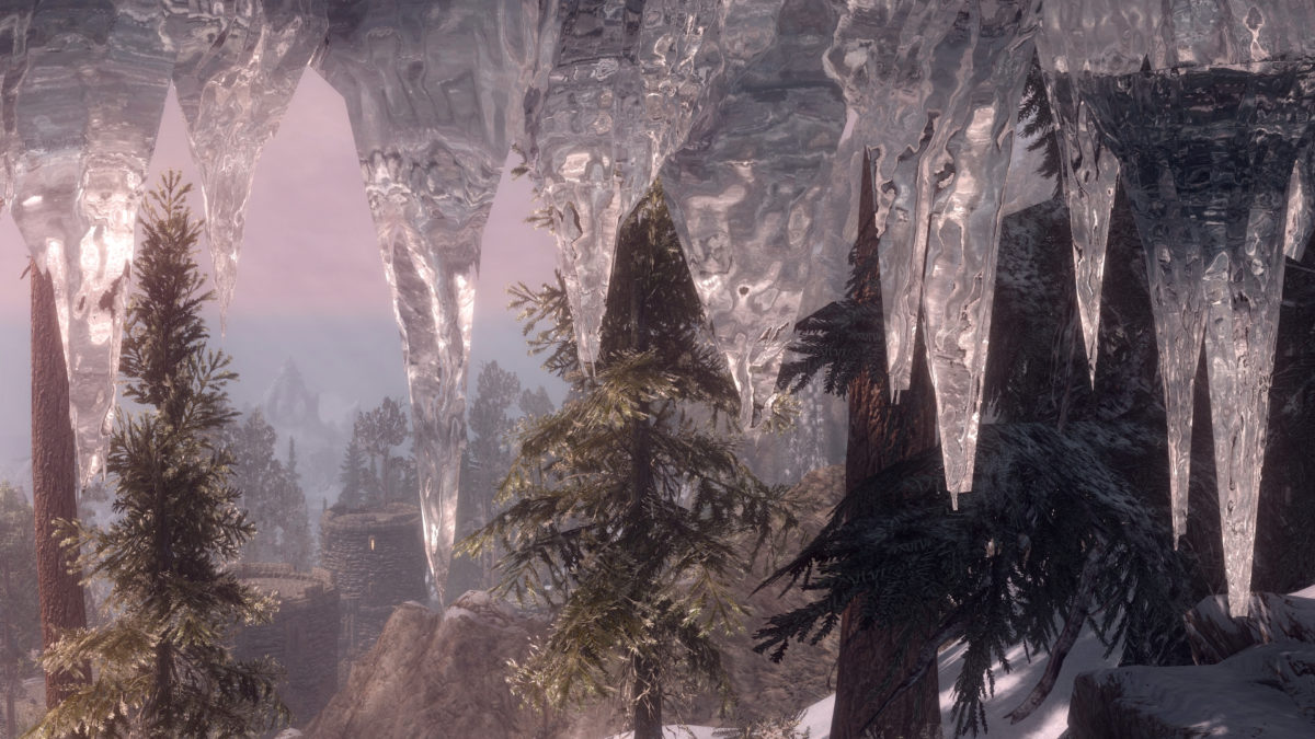 Transparent and Refracting Icicle and Frost Atronach
